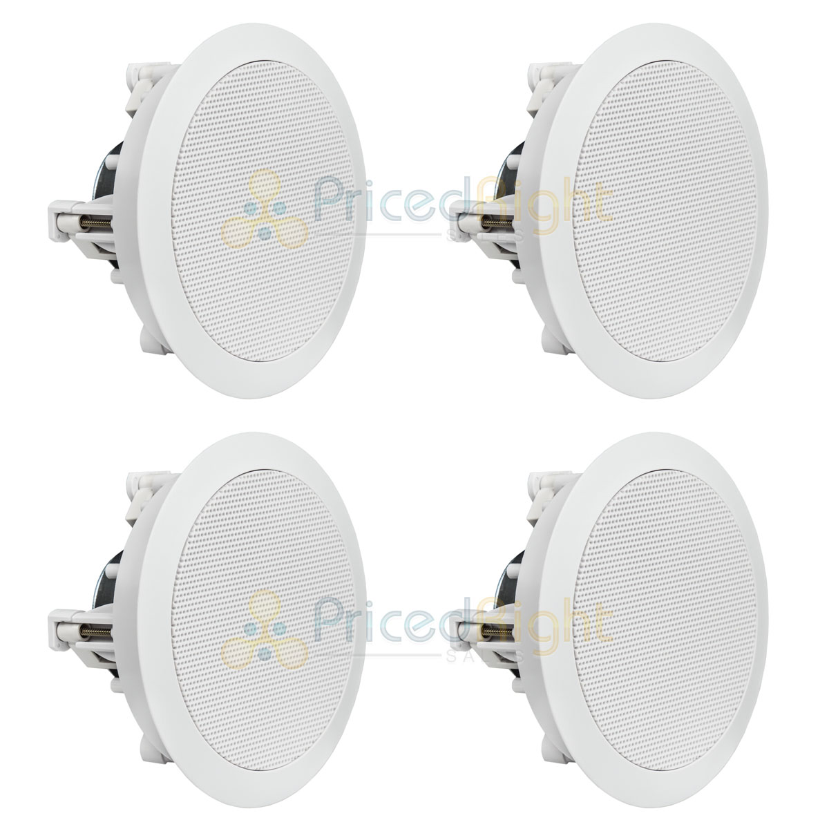 "4 Pack 5.25"" In Ceiling Speakers Home Theater Flush Wall 8 O"