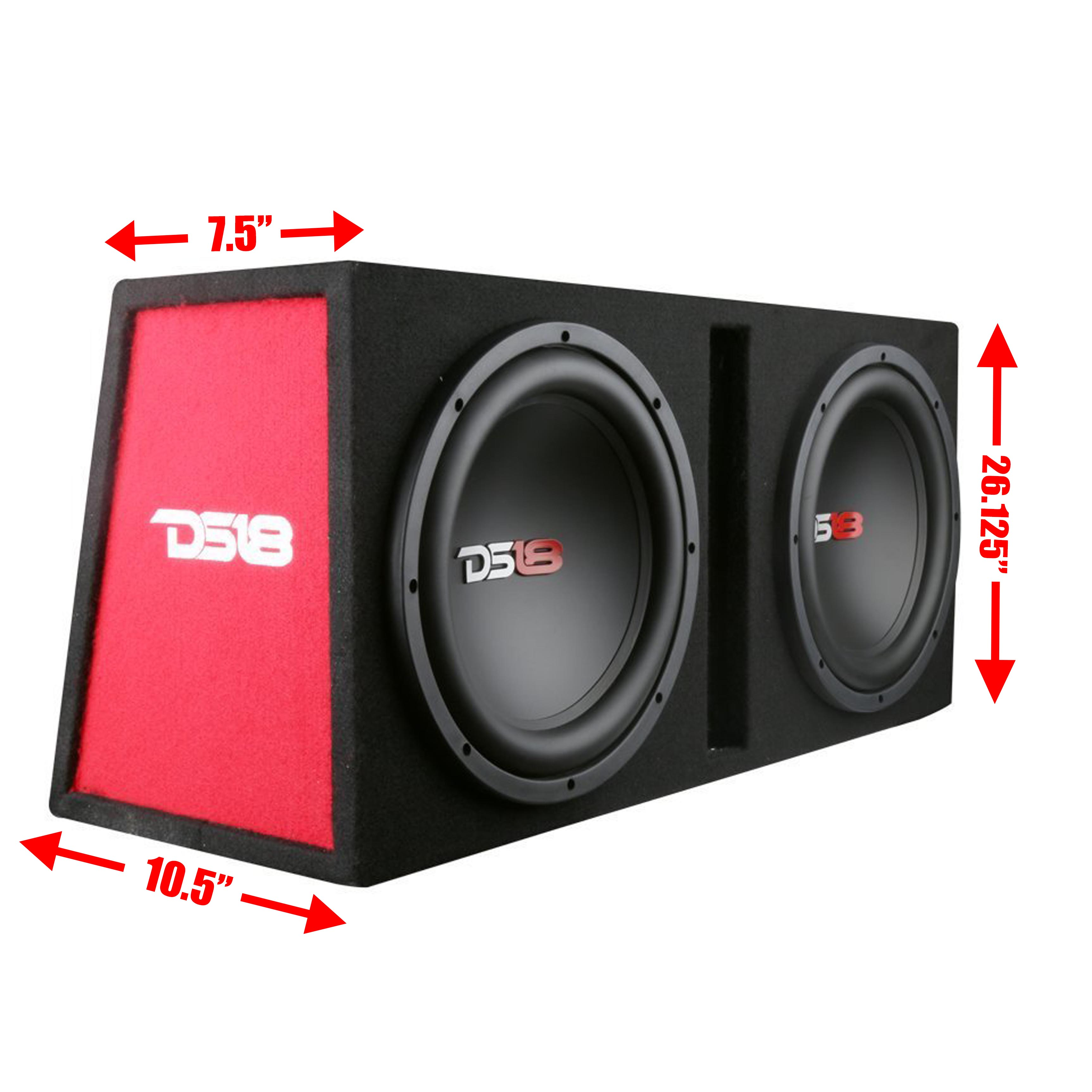 ds18 complete bass package dual subwoofers box amplifier install rh ebay com P J Bass Wiring Kit Custom Bass Wiring Kits