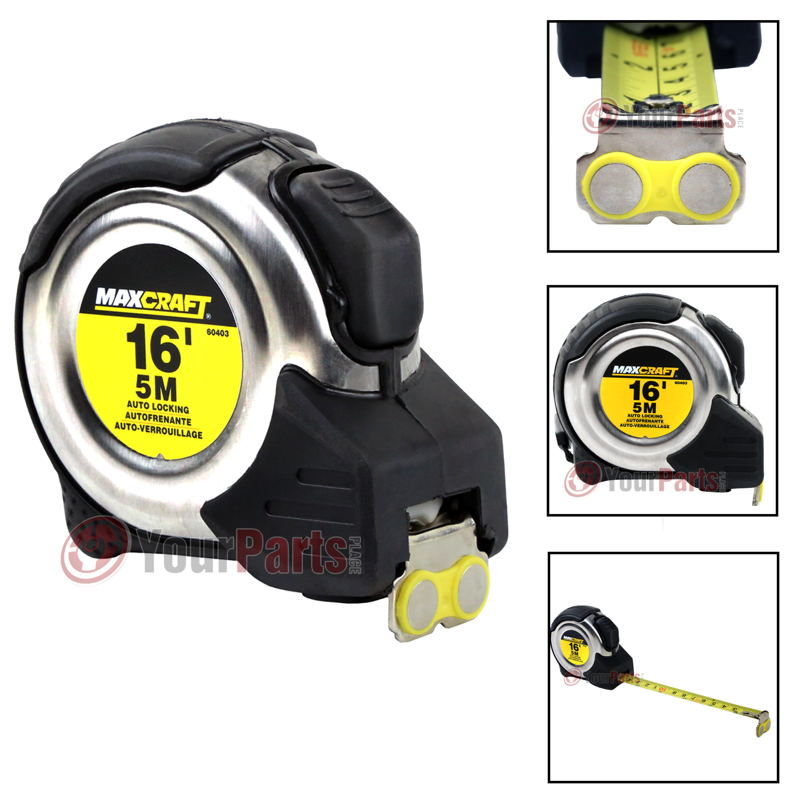 Brand New 16FT 3//4 Inch Auto Locking Tape Measure Metric /& Standard