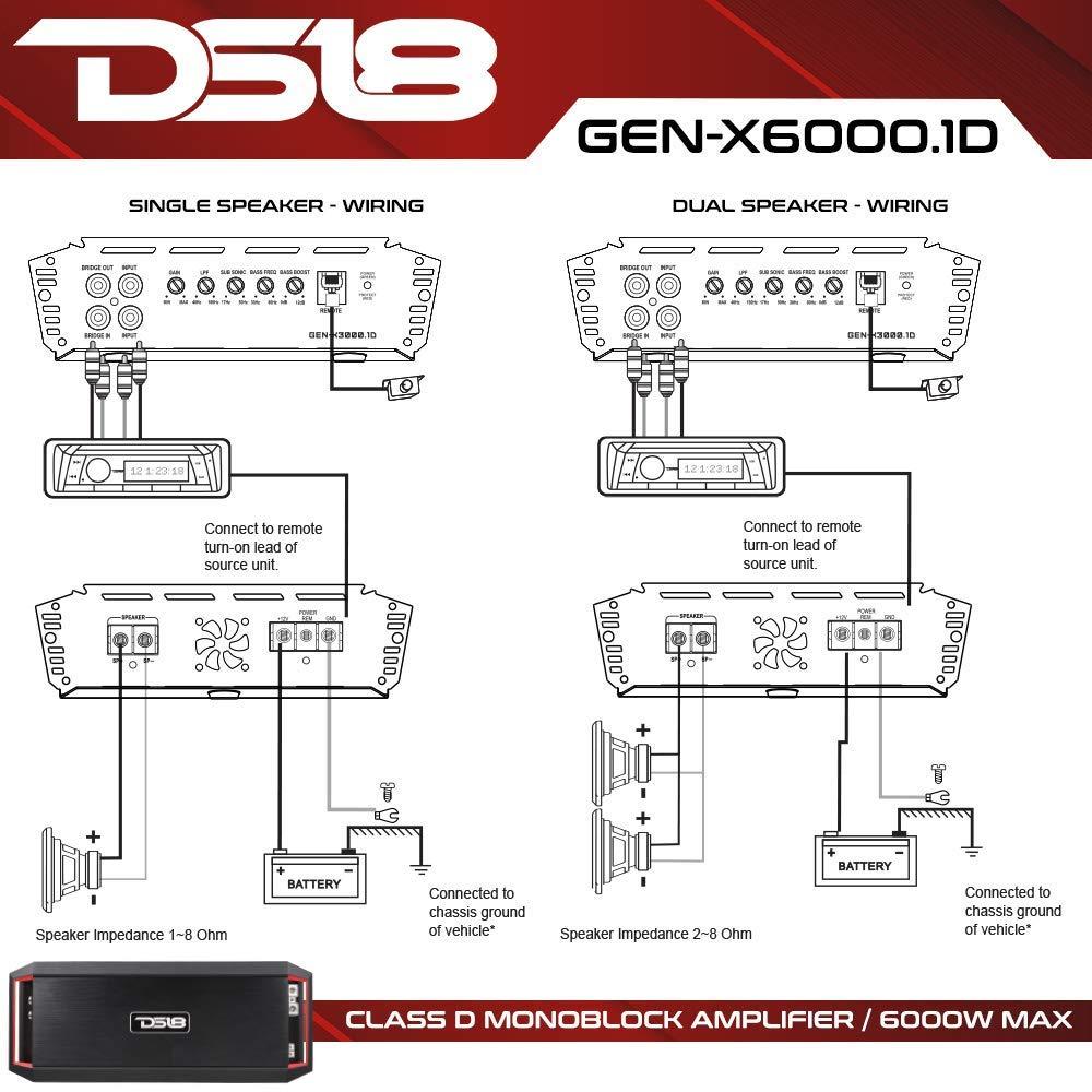Details about 1 Channel Monoblock Amplifier Class D Amp 6000 Watts Max  GEN-X6000 1D DS18 Car