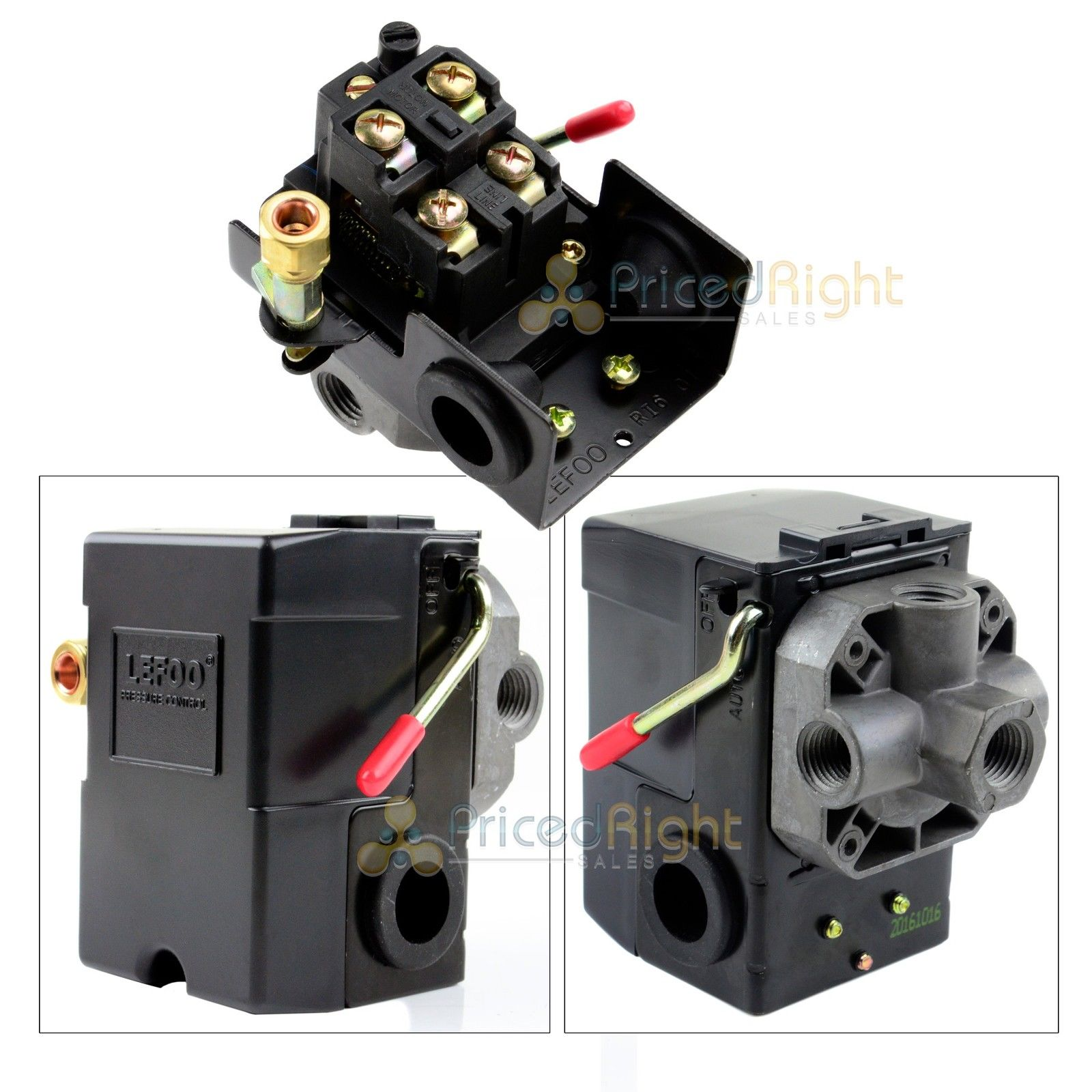 4 port air compressor pressure switch control valve 95 125. Black Bedroom Furniture Sets. Home Design Ideas