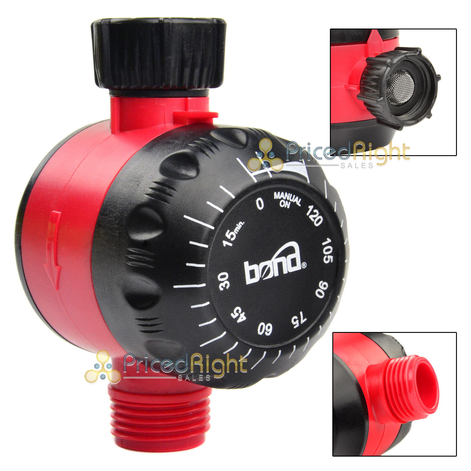mechanical water timer lawn garden watering hose faucet 2 hour