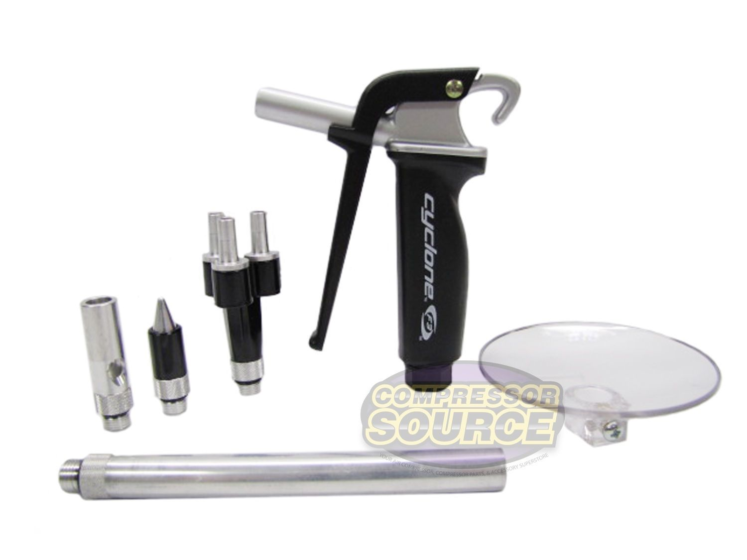 6 PIECE AIR BLOW GUN KIT WITH NOZZLES
