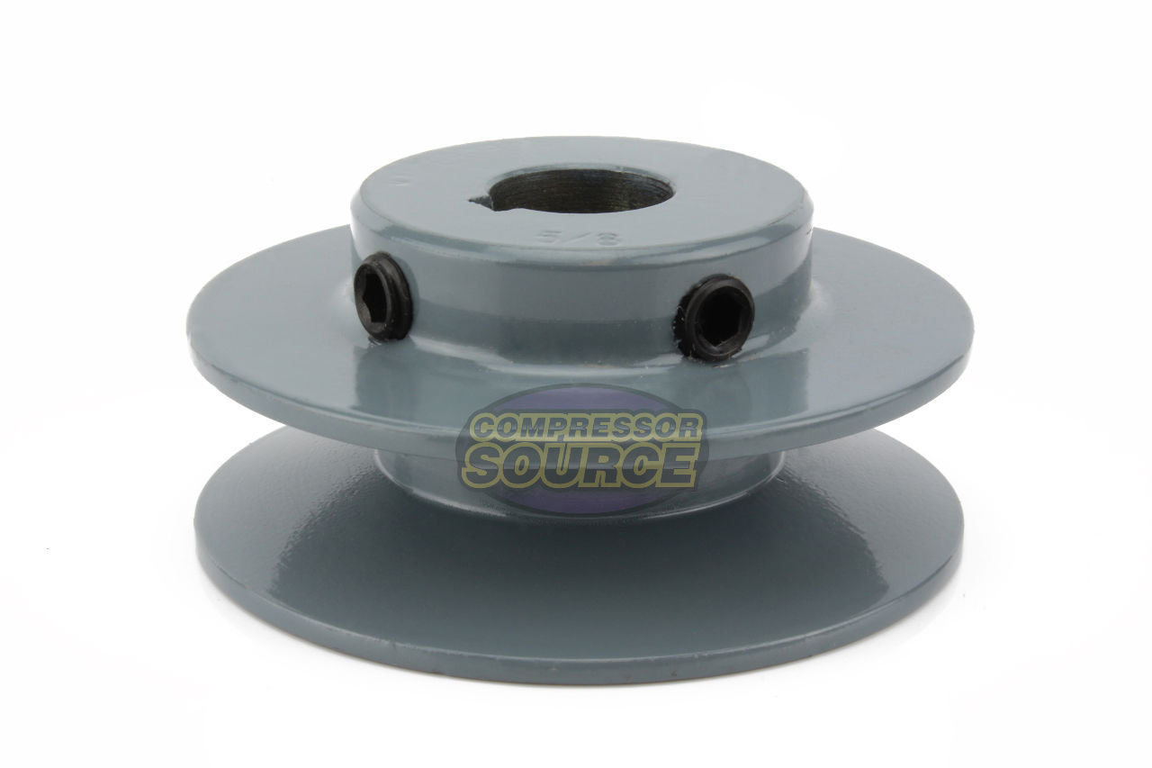 """3/"""" Cast Iron 5//8/"""" Shaft Pulley Sheave Single Groove V Style A Belt 4L"""