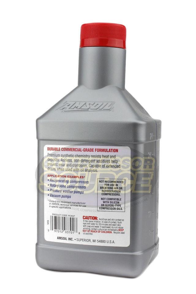 1 Quart Qt Amsoil Synthetic Air Compressor Oil Iso 100