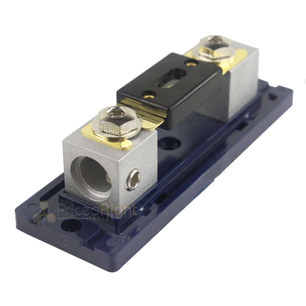 Xscorpion ANL2010G Gold ANL Fuse Holder With 0//2 Ga In//Out W//Adapter
