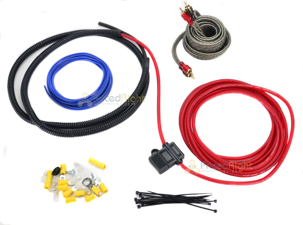 10 Gauge 800 Watt Amplifier Amp Wiring Kit Bge10rp Epak10r Car Audio Awg