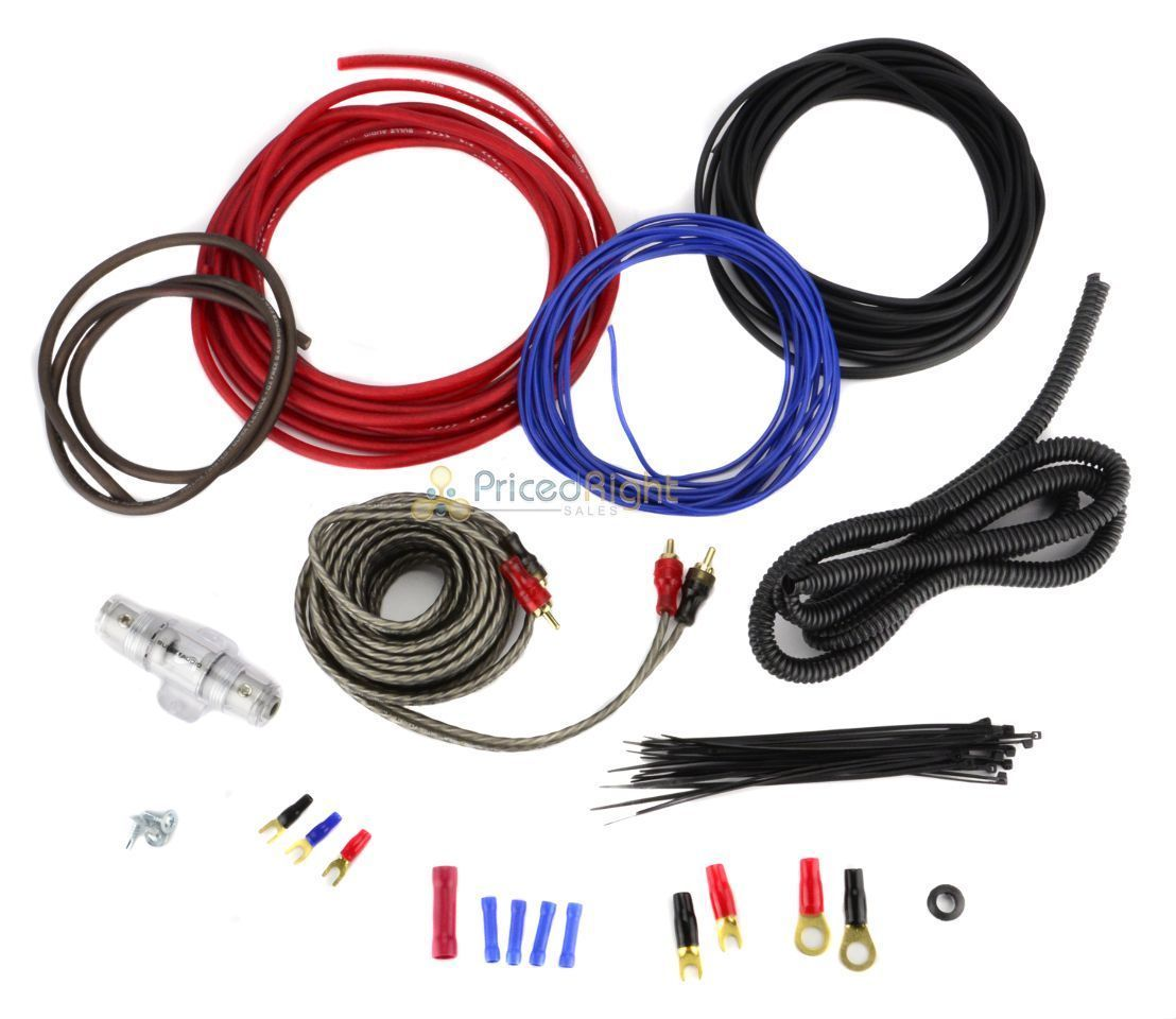 8 gauge amplifier wiring kit car audio amp 8g installation install rh ebay com car radio wiring kit car audio wiring kit best buy