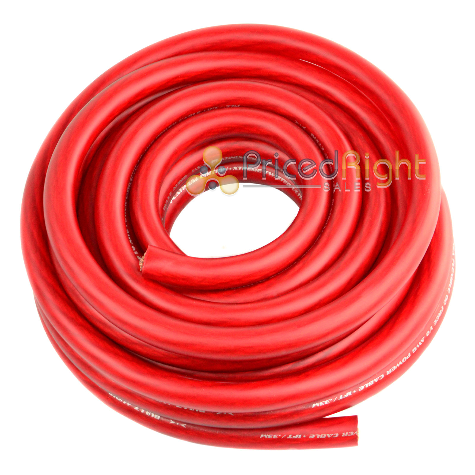 0 Gauge 25 Feet Wire 1//0 AWG High Performance Flexible Amplifier Power Cable Red