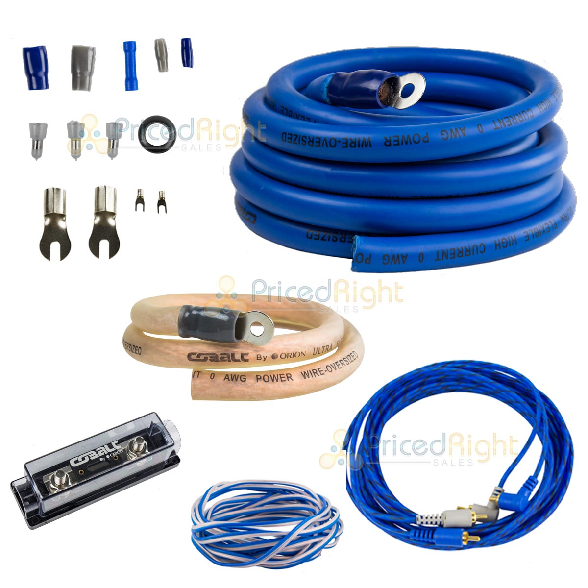 0 Gauge Amp Install Kit 6500w Car Audio Amplifier Over Sized Wire Wiring Cables