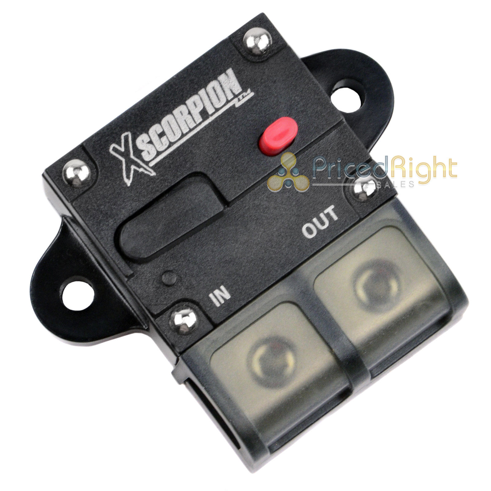 12v 150 Amp Circuit Breaker 1 2 4 Gauge In Out Terminal Block Manual Bullz Car Audio Red Standard Amplifier Power Wiring Kit Reset