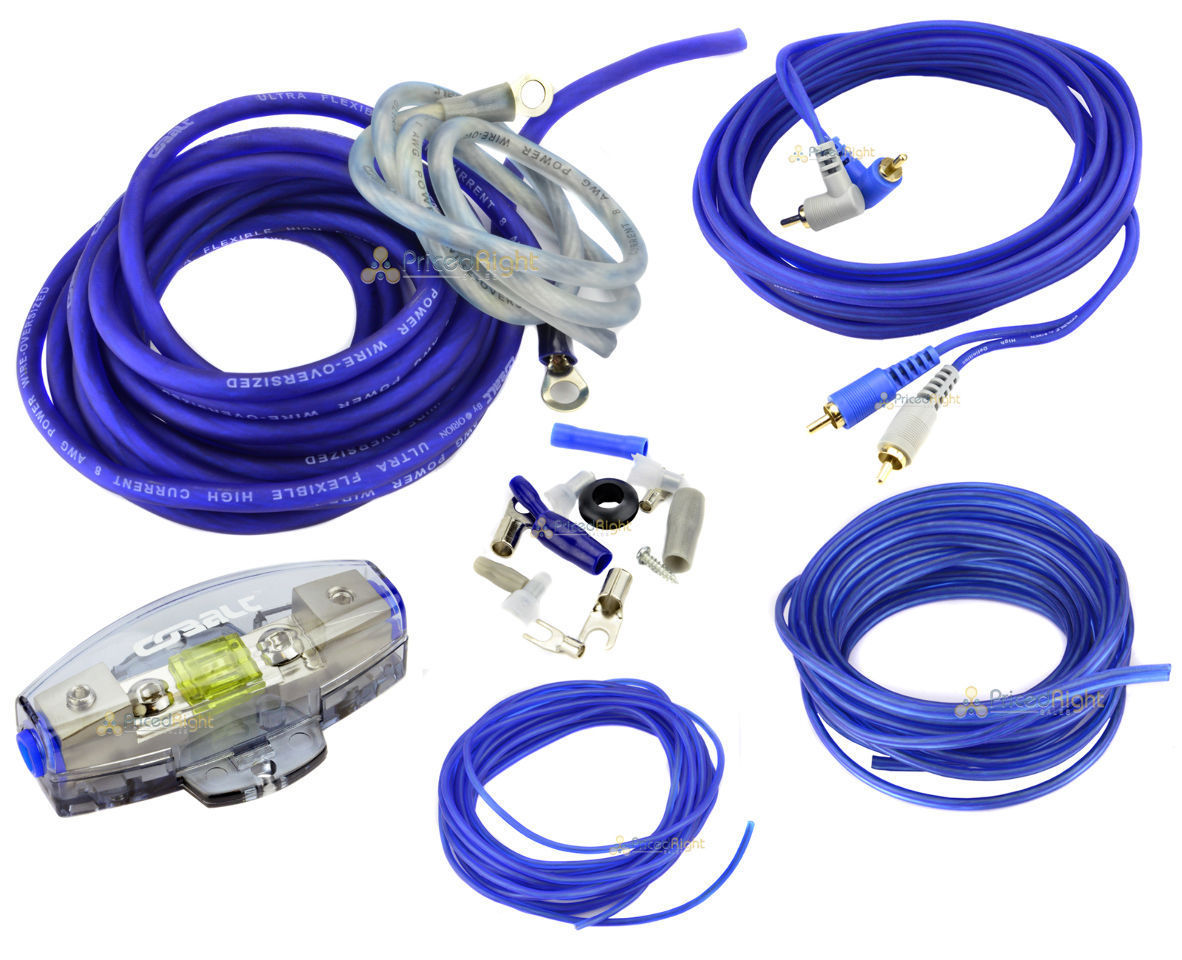true 8 gauge amp kit amplifier install wiring complete 8 ga rh ebay com