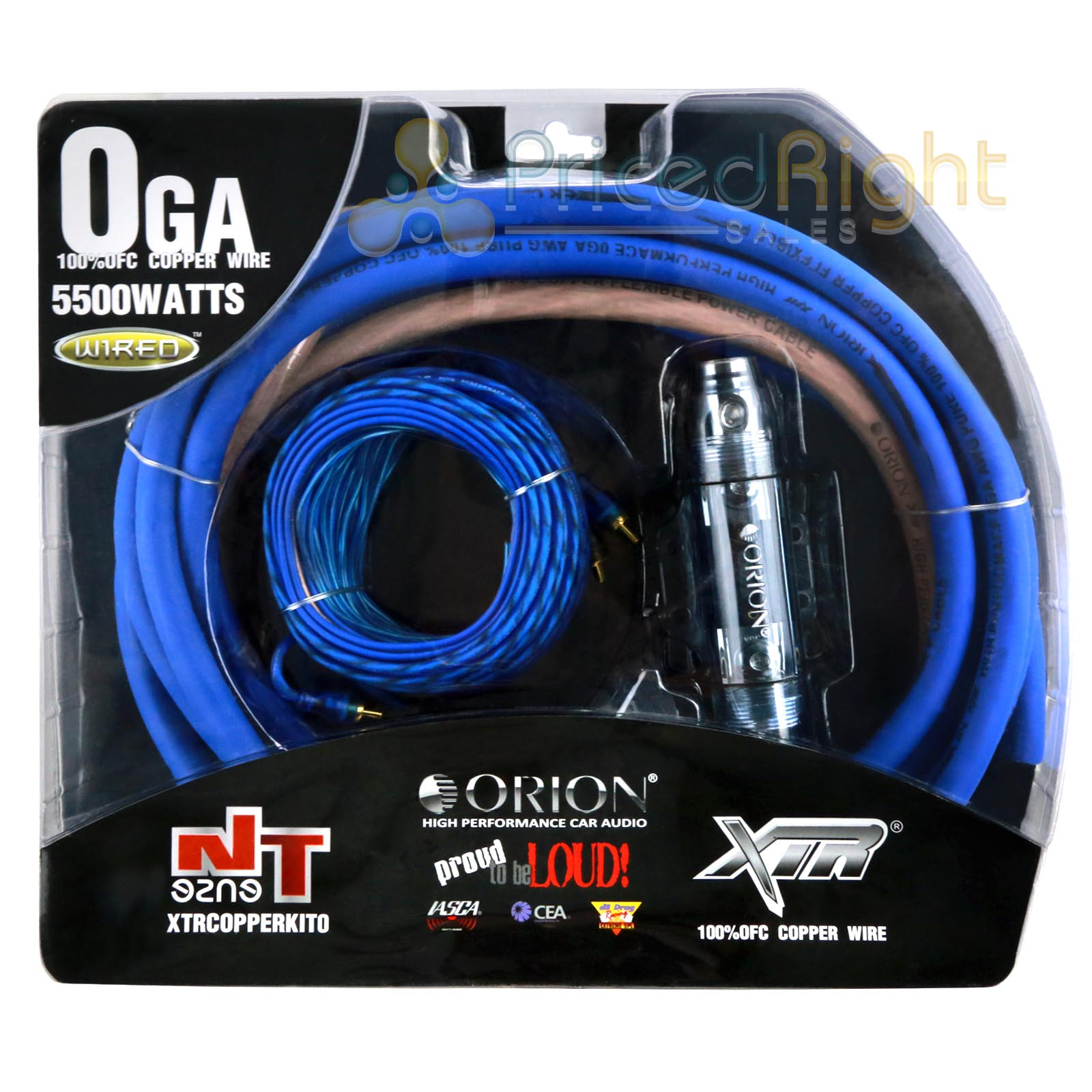 Orion True Ofc 0 Gauge Complete Amp Wiring Kit 100 Pro 4 Amplifier Install Car Audio Cables Pure Copper Wire