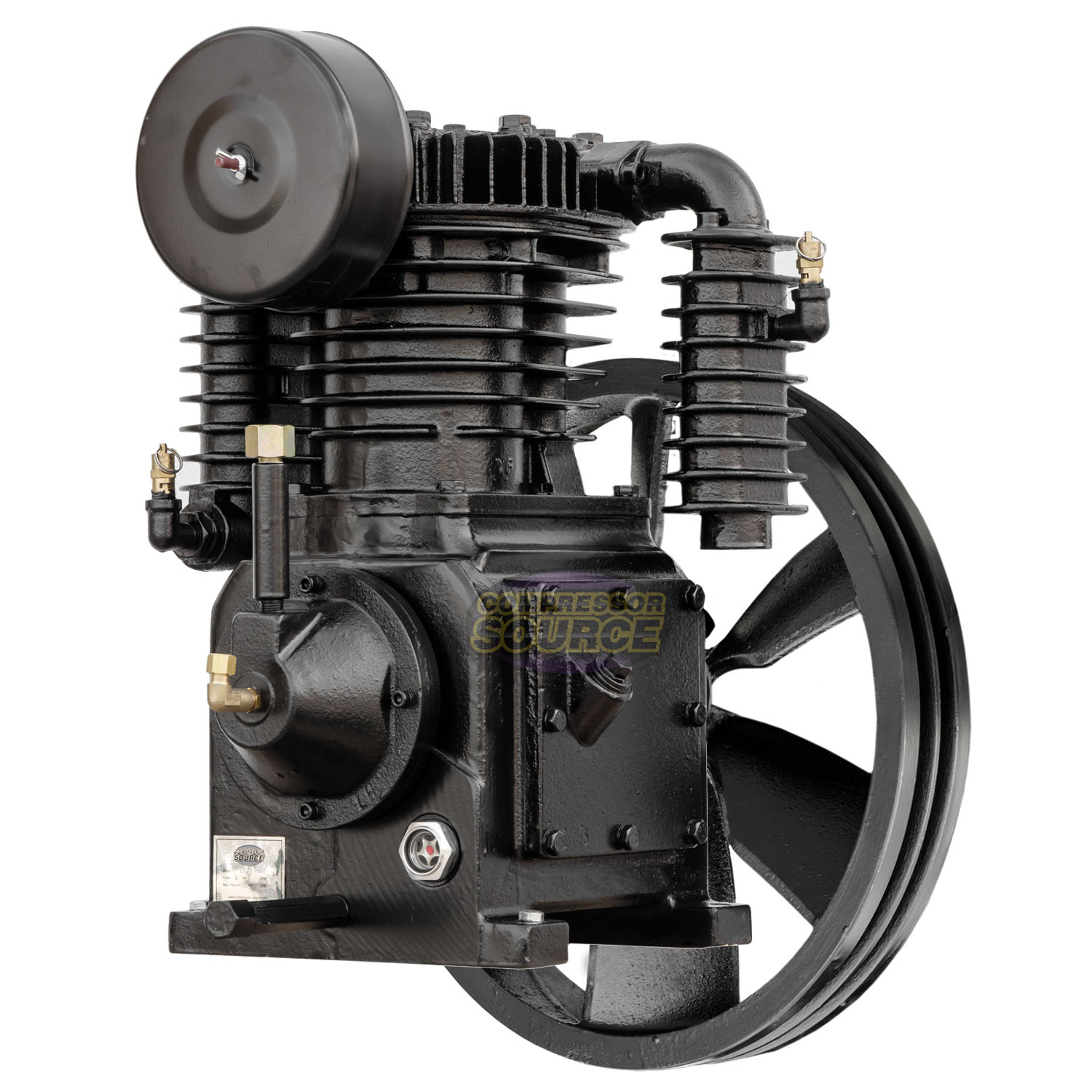 Replacement Air Compressor Pump >> 5 Hp Replacement Air Compressor Pump Two Stage 2 Cylinder 19 Scfm