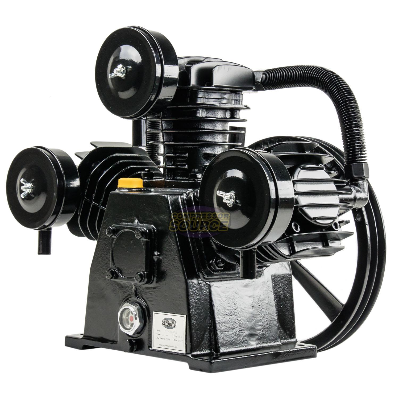 Replacement Air Compressor Pump >> Details About 4 5 Hp Replacement Air Compressor Pump Single Stage 3 Cylinder 10 12 Cfm Max