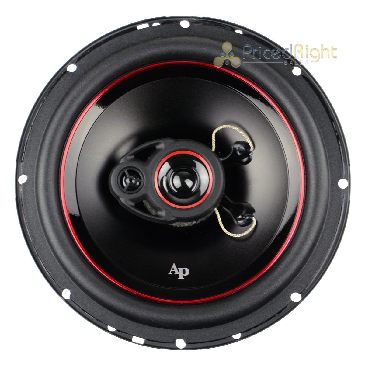 "Set 2 Audiopipe 330W 6.5/"" Coaxial Speakers 3 Way Pair CSL-1623AR Tri-Axial"