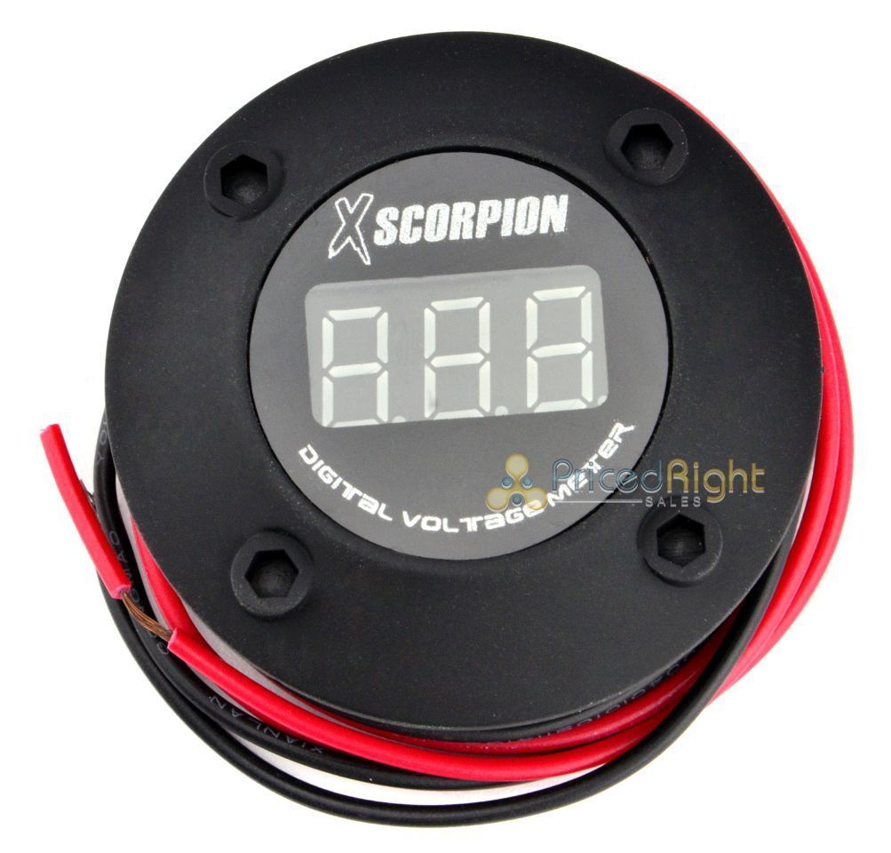 Car Audio & Video Installation Consumer Electronics Xscorpion Digital 12v Volt Led Car Voltage Meter Volt Black With Red Led Dvm3r With A Long Standing Reputation