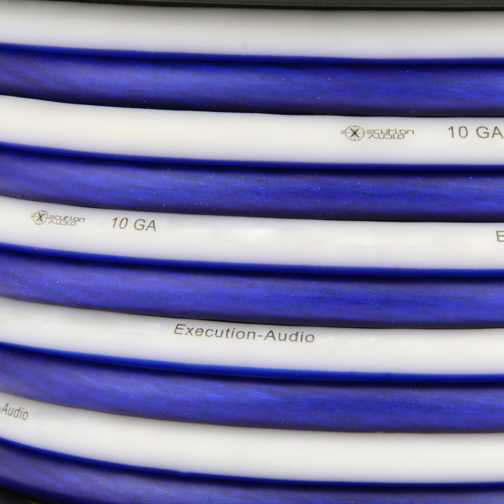 Details about 25 Ft True 10 Gauge AWG Speaker Wire Blue White Zip Cable on