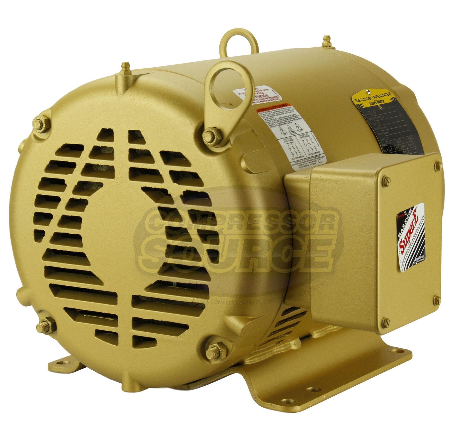 7 5hp 3 phase baldor electric compressor motor 213t frame for Motor baldor 20 hp