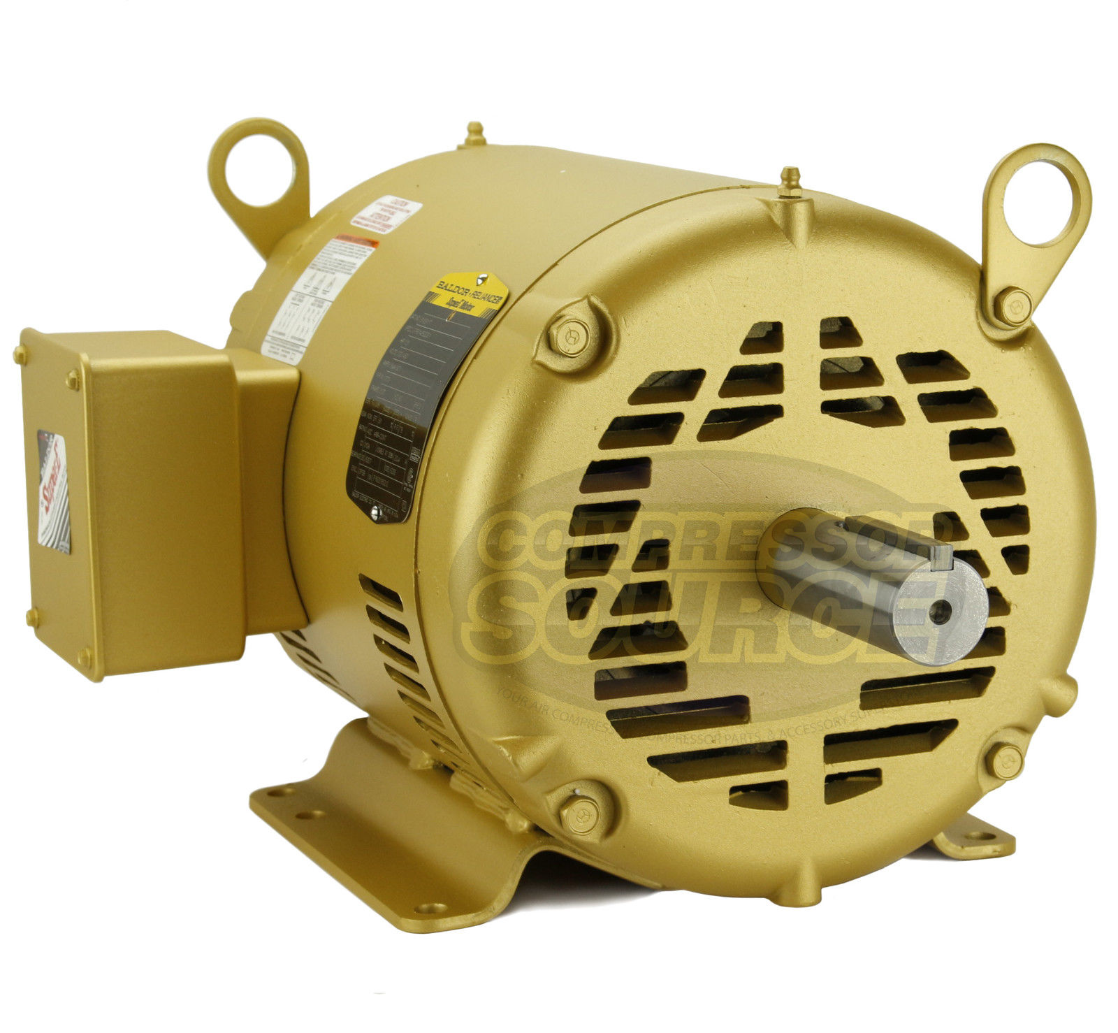 7 5hp 3 Phase Baldor Electric Compressor Motor 213t Frame