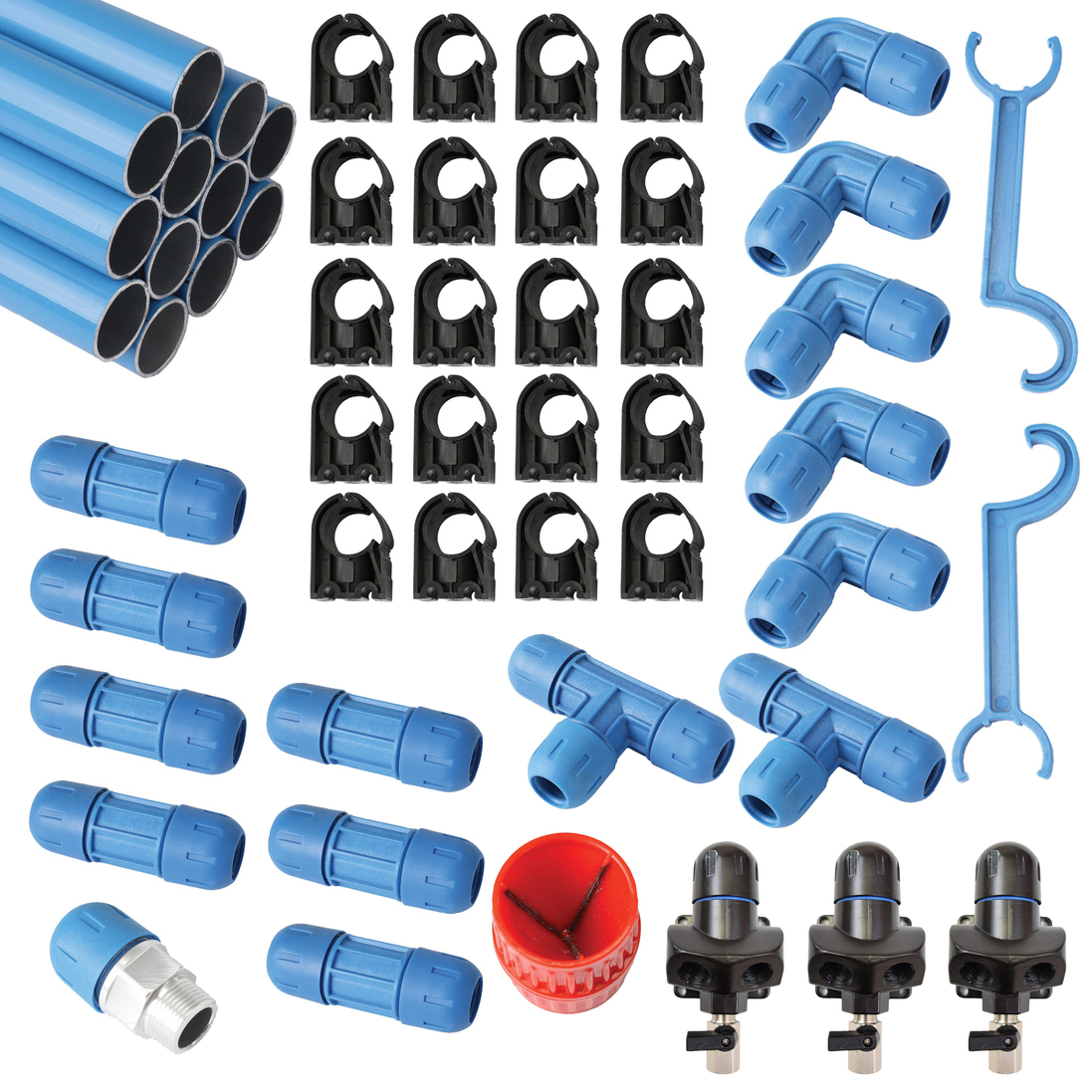 Compressed Air Piping >> Details About F28070 Fast Pipe 90 3 4 Compressed Air Line Aluminum Piping System Tubing Kit