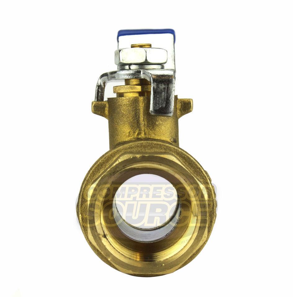 """3//4/"""" Female NPT Brass Ball Shut Off Valve Water Air Fluid 600 PSI WOG Full Port"""