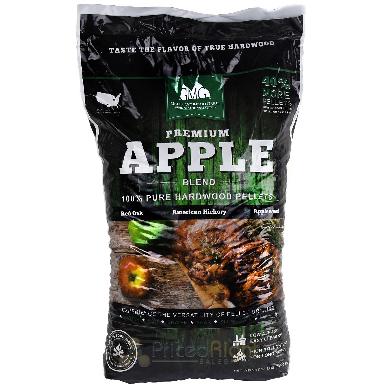 Wood Cooking Pellets Apple Pellet Blend 28 lb Bag Red Oak ...