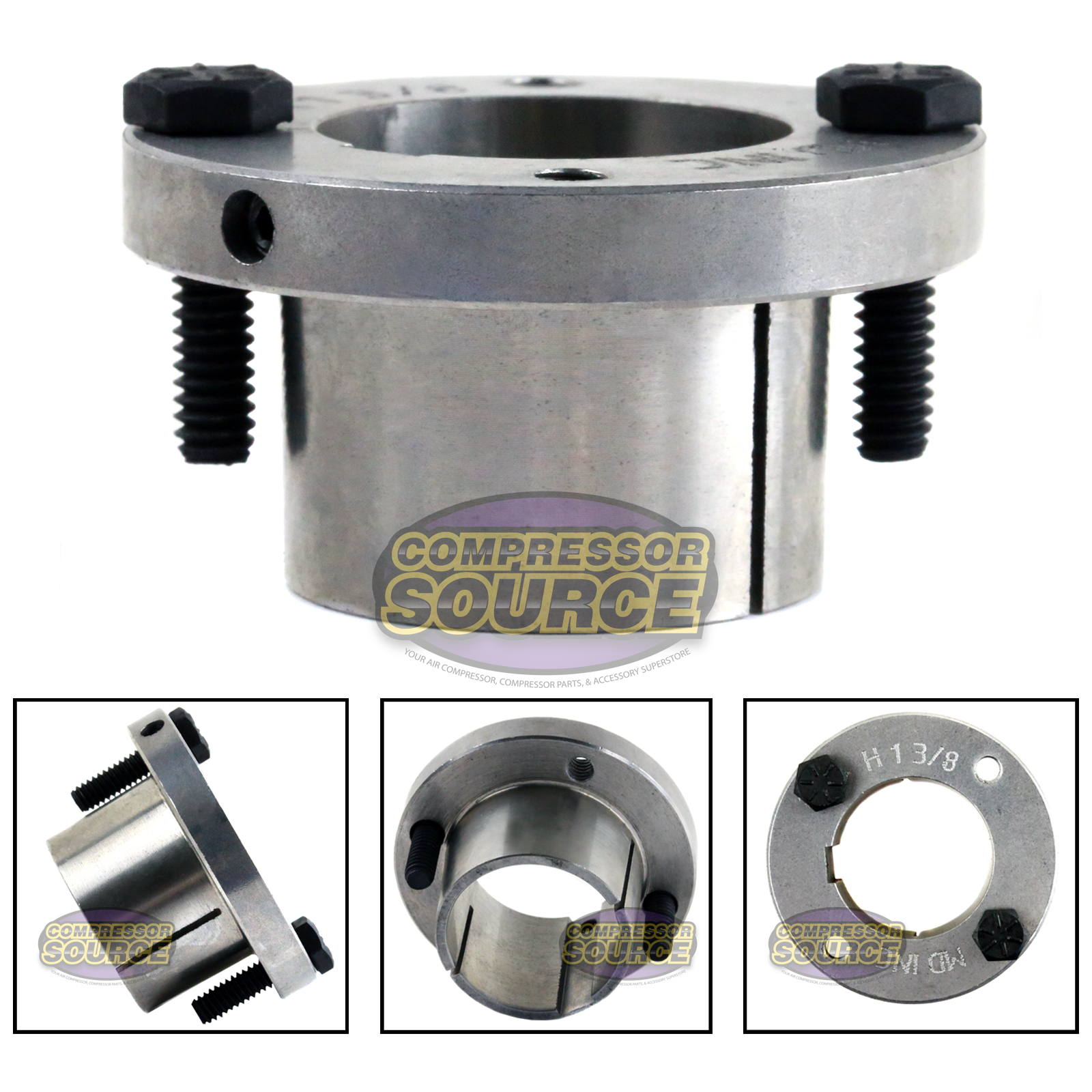 Quot bore h style steel sheave pulley bushing split