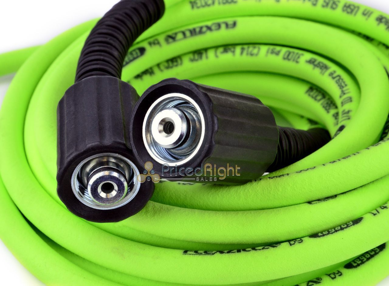 Details about Flexzilla Pressure Washer Hose 1/4 in x 25 ft Legacy USA 3100  PSI Cold Water