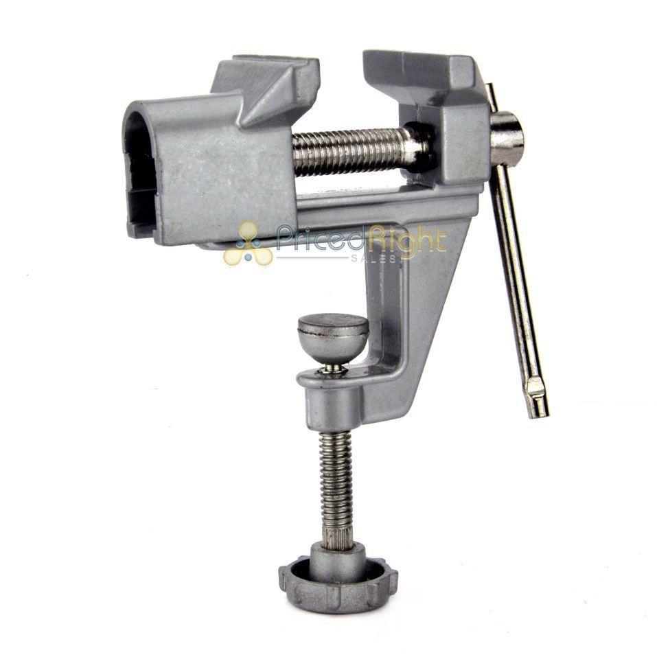 Mini Bench Vise Table Swivel Lock Clamp Vice Craft Hobby Cast Aluminum New Ebay