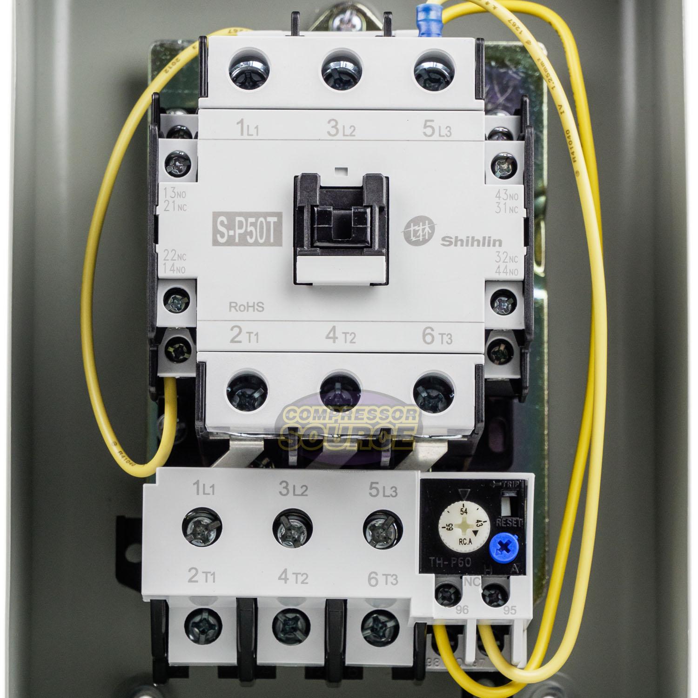 New 15 Hp Horsepower Magnetic Motor Starter Control Switch 3 Phase 230 Volt 685650070957