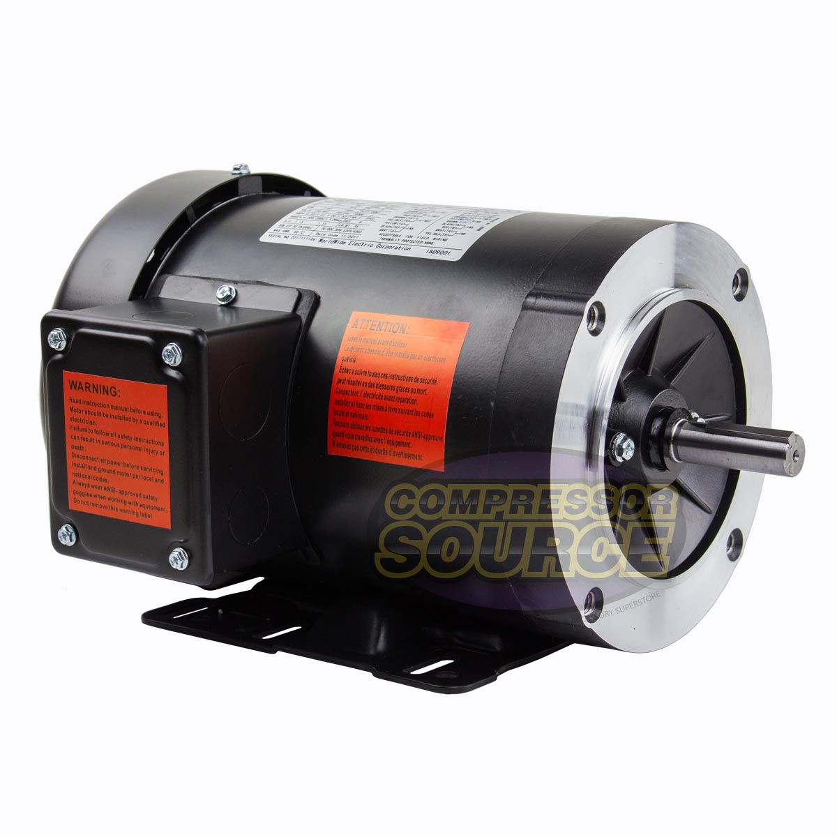 1.5 HP Electric Motor 3 Phase 56C Frame 1800 RPM TEFC 230 460 Volt New