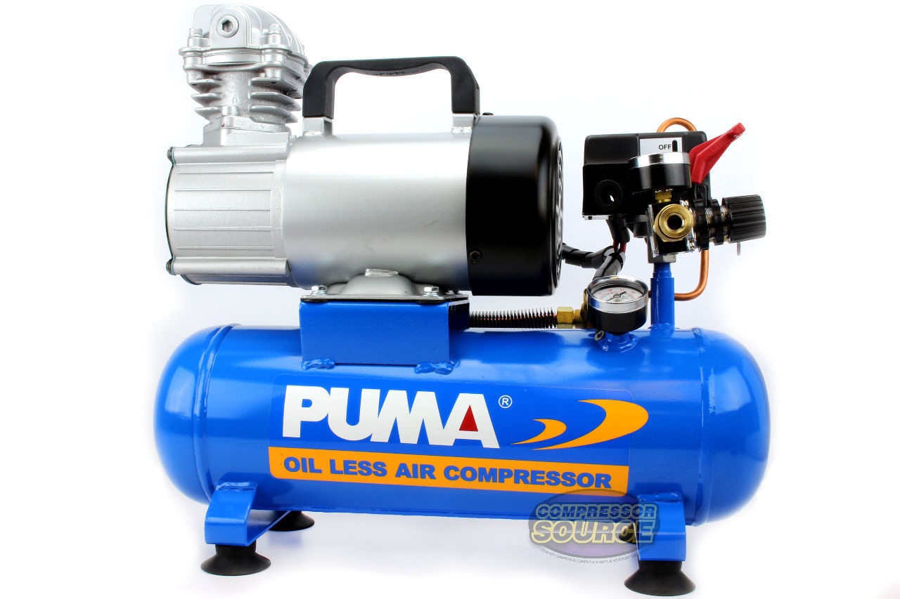12V Air Compressor >> Puma 12 Volt 1 5 Gallon Oil Less Air Compressor Free Shipping Oiless