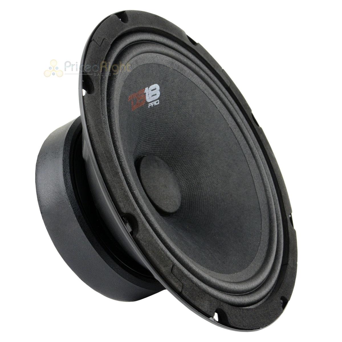 DS18 960 Watts Max 2 PRO-GM8SE 8 Inch Sealed Back Loud Speaker 8-Ohms