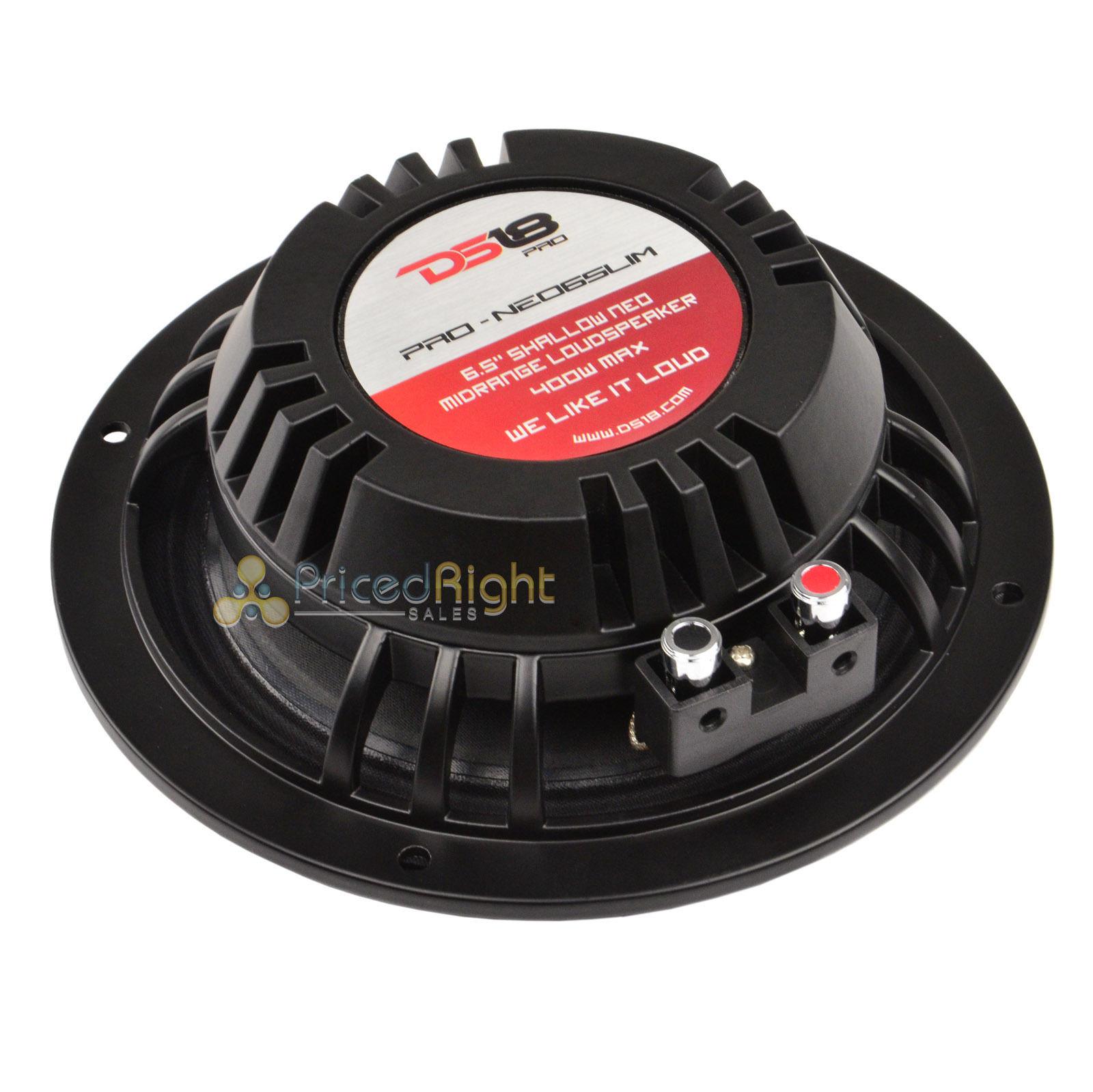 """DS18 6.5/"""" Shallow Neodymium Midrange Loudspeaker Slim 400 Watt PRO-NEO6SLIM"""
