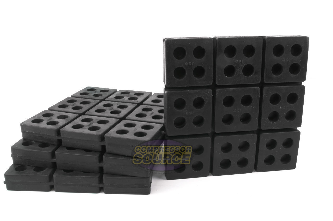 8 All Rubber Anti Vibration Pad Isolation Dampener Industrial Heavy Duty 4x4x3//4