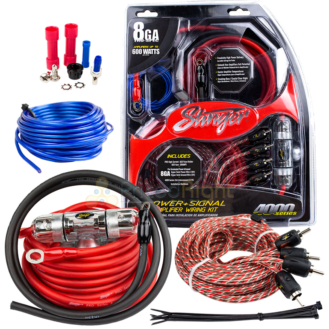 True 8 Gauge Awg 600 Watt Amplifier Wiring Kit Stinger Wiring Diagram