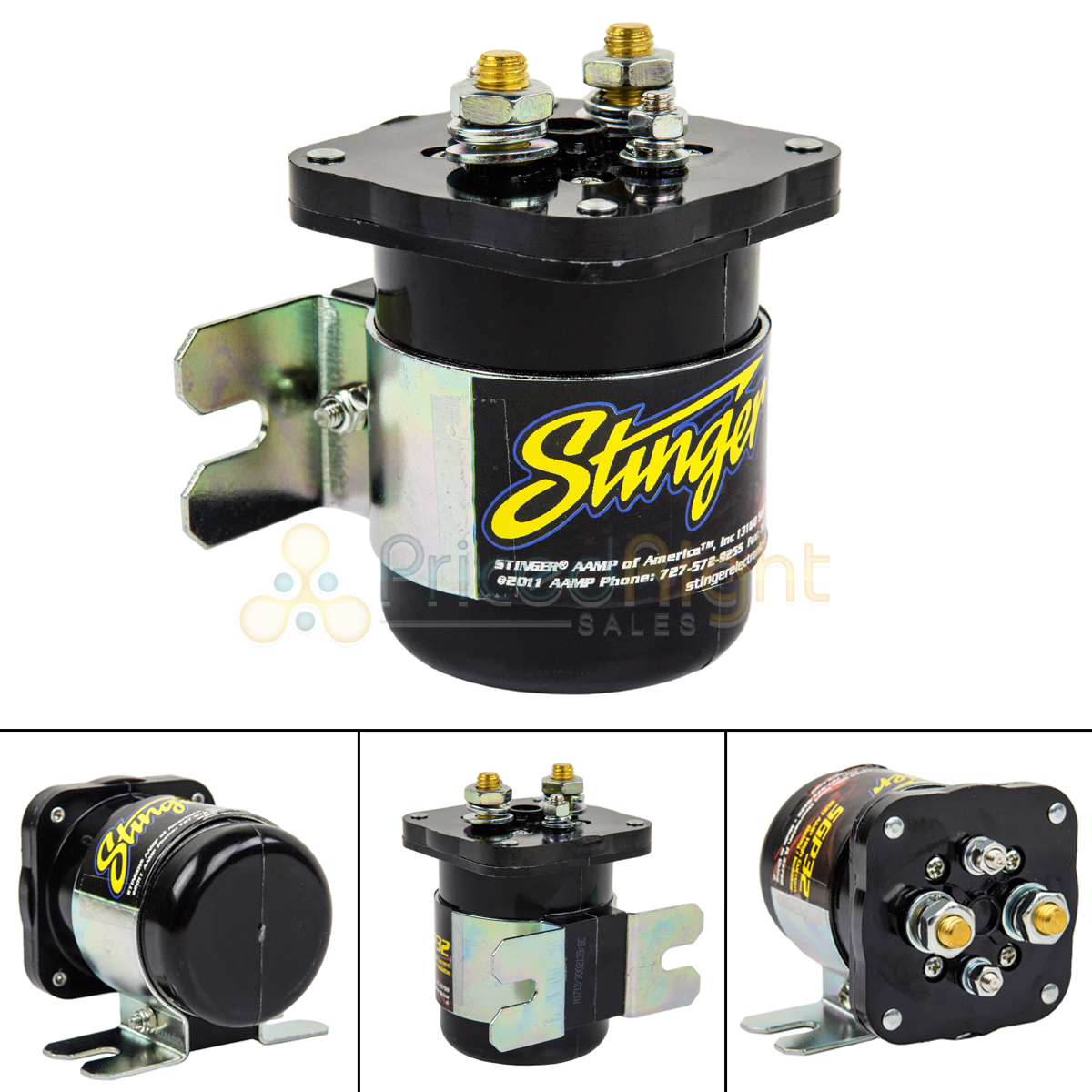 200 AMP HIGH CURRENT RELAY BATTERY ISOLATOR CAR AUDIO INSTALL 2 BATTERIES POWER
