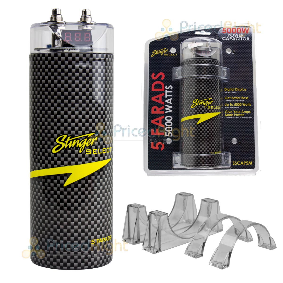 Details about 5 Farad Capacitor Stinger Select SSCAP5M 5000 Watts Power 12V  Car Digital Power