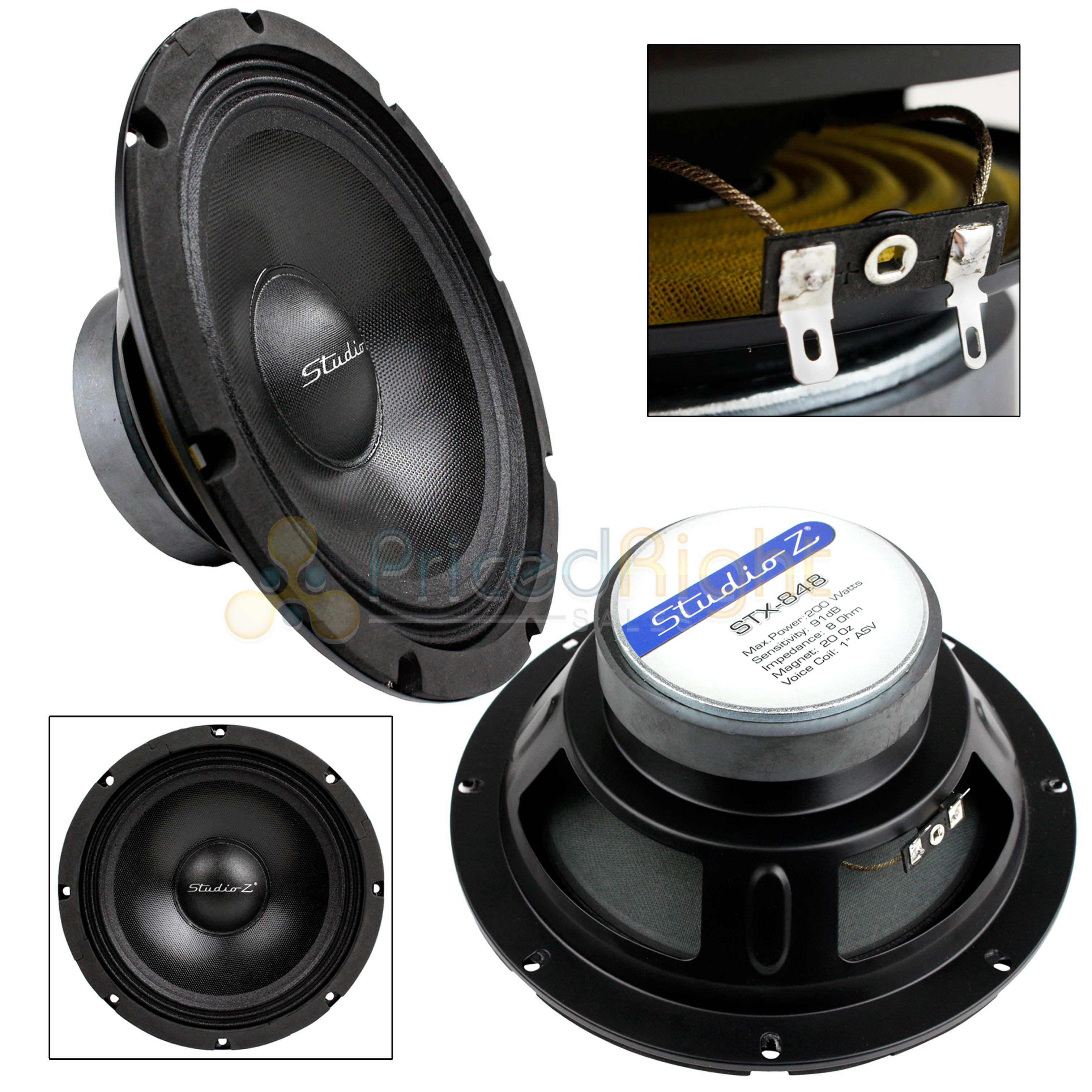 """NEW 12/"""" Home Audio Speaker SubWoofer.8ohm Driver.bass sound woofer replacement."""