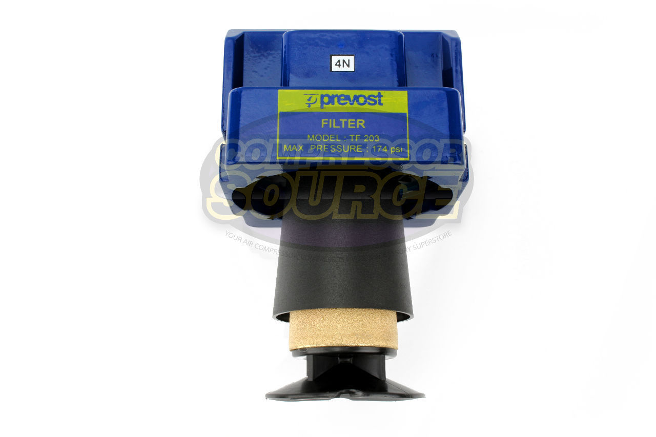 Prevost compressed air inline moisture trap water for Filtre waterair