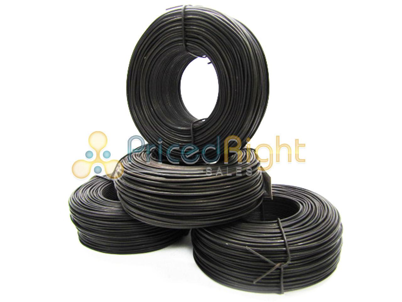 3 lb Pound Rolls Mechanic Rebar Tie Wire 16 Gauge Ga Lot of 4 Black ...