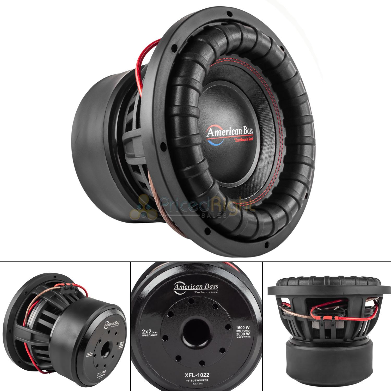 American Bass XFL1044 10 inch 2000 Watts Subwoofer -NEW-