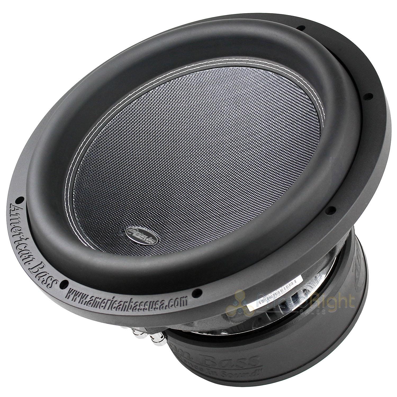 "American Bass XR-12D4 12"" Subwoofer Dual 4 Ohm 2400W Max 200"