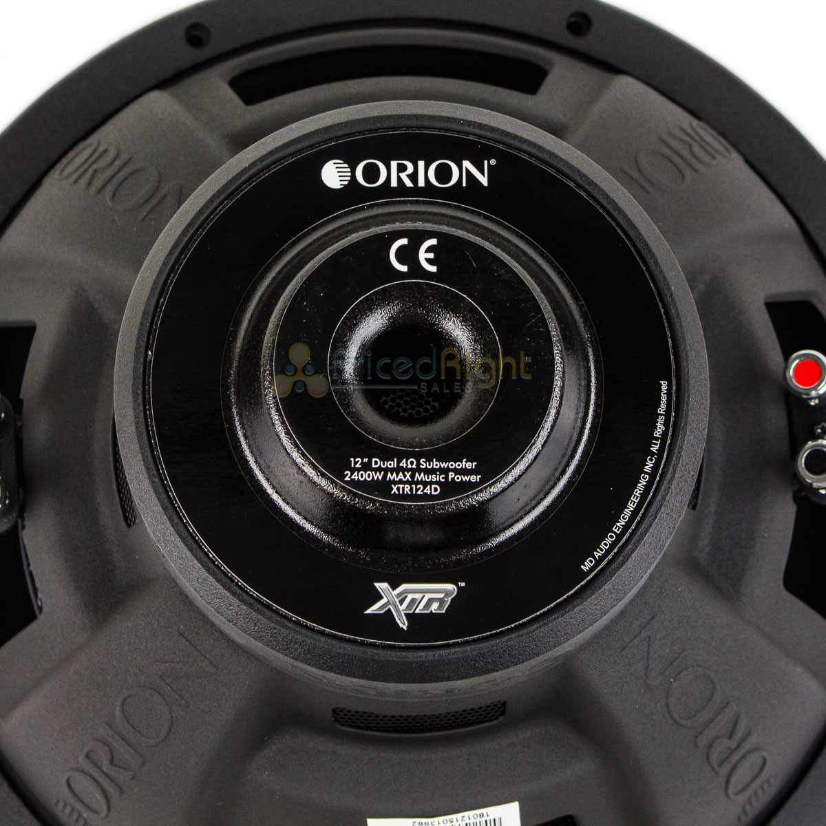 Orion Xtr124d 12 Inch 2400 Watt Max Dual 4 Ohm Single Subwoofer Xtr Wiring Series New