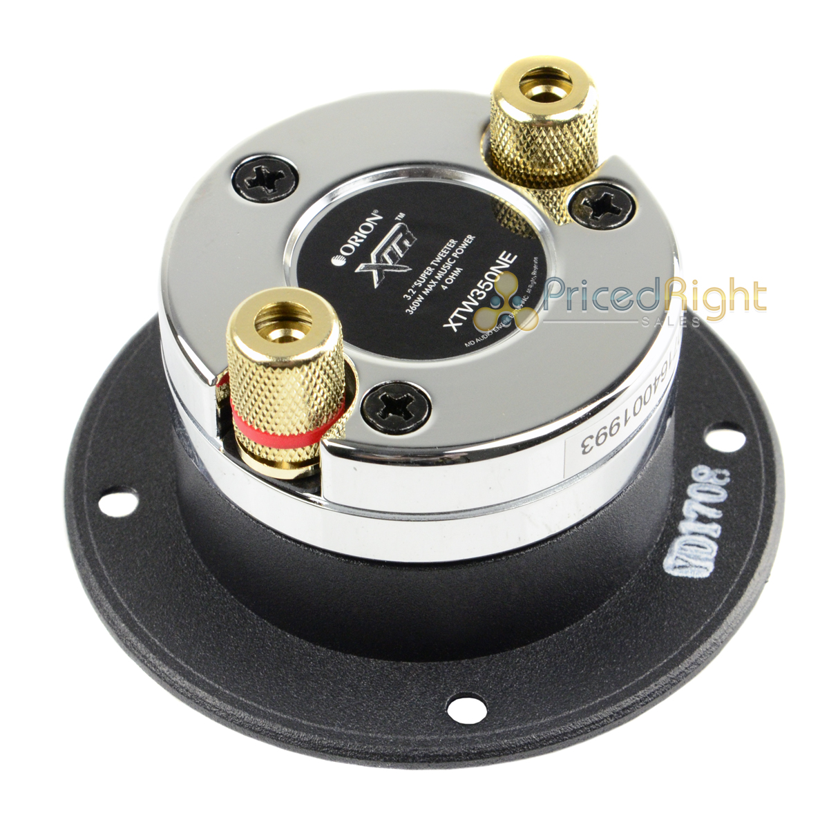 "4.5/"" Super Tweeter 560W Watts Max Power 1.75/"" Voice Coil XTR Orion XTW750FD"