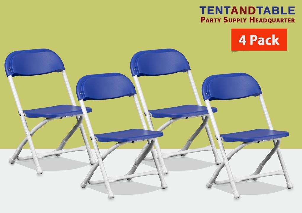 4 Kids Plastic Chair Multi Color Metal Frame