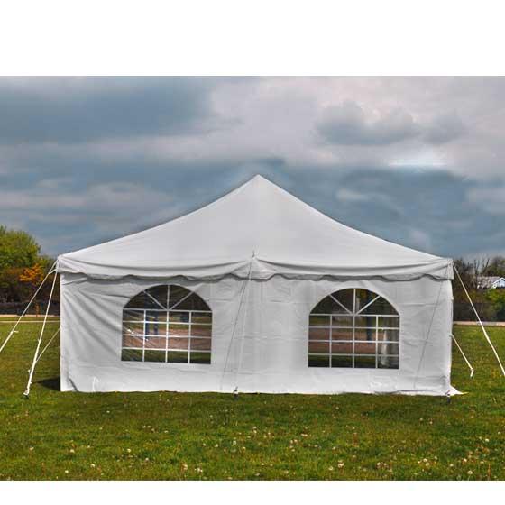 7x15u0027 Premium Blockout Vinyl Sidewall 3 Piece Fits Pole Tents Frame Tents  sc 1 st  eBay & 7x15u0027 Cathedral 3 Sidewall White Vinyl Wedding Event Pole Tent ...