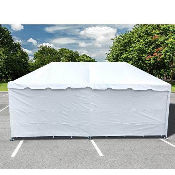 8x20u0027 Premium Blockout Vinyl Sidewall 4 Piece Fits Pole Tents Frame Tents  sc 1 st  eBay & 8x20u0027 Solid 4 Sidewall White Vinyl Wedding Event Pole Tent Wall ...