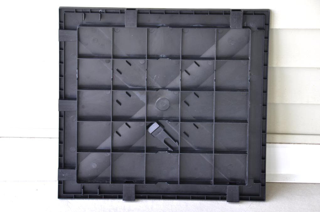 Portable Dance Floor Tile Vinyl Finished Abs Resin 18x18x1 Grid